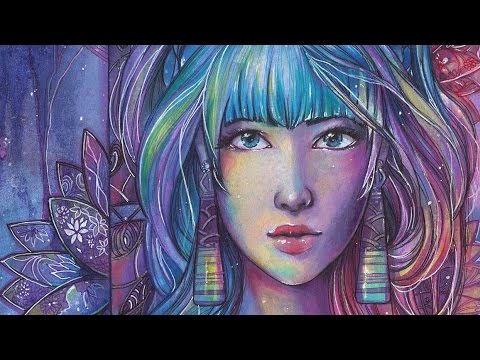 ARTWORK ✬ Watercolor + Copic Marker timelapse ✬ Orleana by sakuems