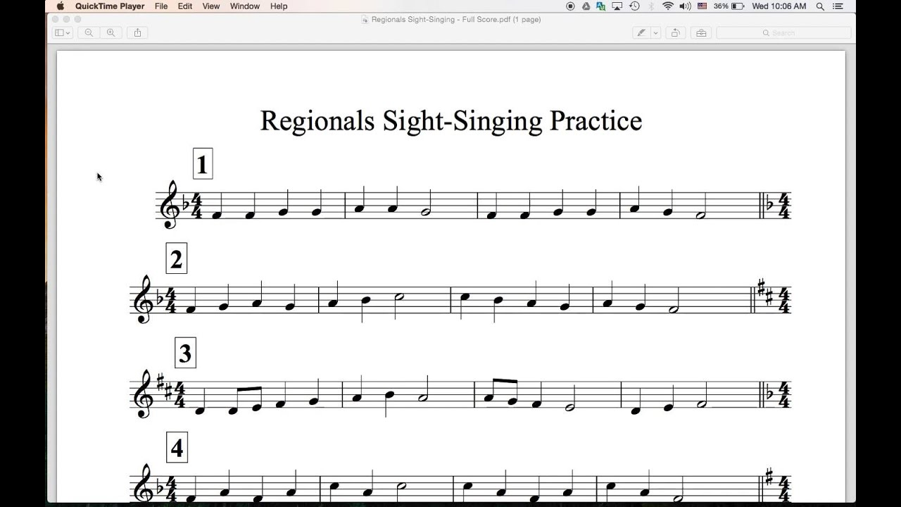 Regionals Sight Singing Practice