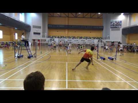 RI Badminton - Jalen vs Hwa Zhong singles