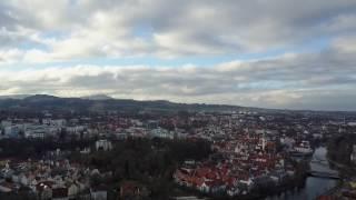Kempten (Allgäu) - Luftbildaufnahme über Engelhaldepark (1)