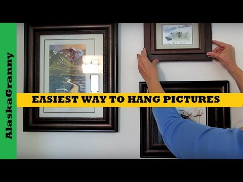 Easiest Way To Hang Pictures Youtube