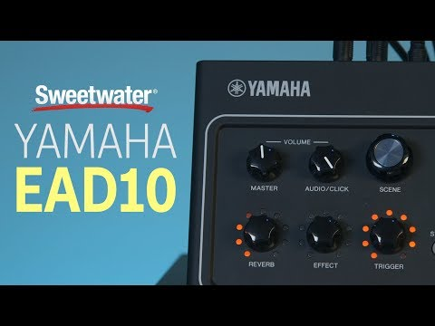 Yamaha EAD10 Drum Module with Mic and Trigger Pickup Demo