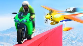 DODGE THE KAMIKAZE PLANES ON A TIGHTROPE! (GTA 5 Funny Moments)