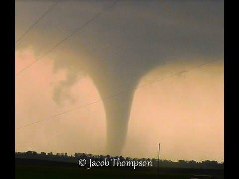 April 14 2012 Salina, KS Tornadoes - Wedge, Stovepipe, Rope