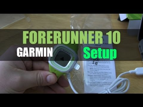 Garmin Forerunner 10 Unboxing And Initial Setup Youtube