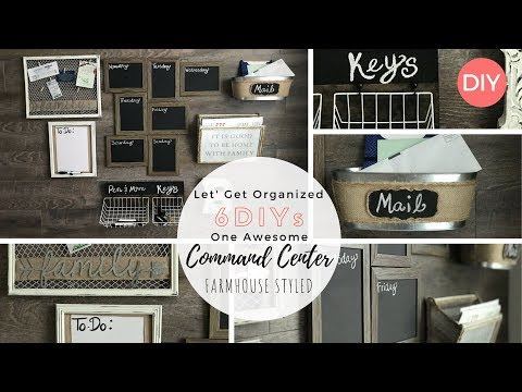 6 DIYs for Command Center | Dollar Tree DIY | Farmhouse Style | Ashleigh Lauren