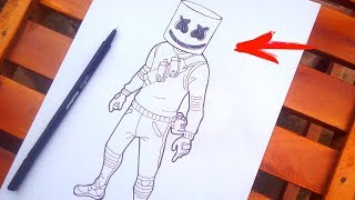 Comment dessiner le Marshmello, Fortnite peau 🔥🔥