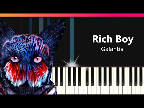 """Galantis - """"Rich Boy"""" Piano Tutorial - Chords - How To Play - Cover"""
