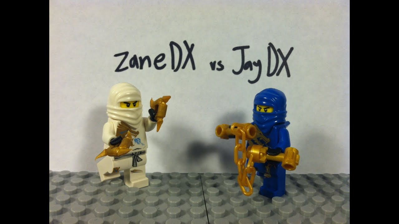 Lego Ninjago Zane Dx Vs Jay Dx Youtube