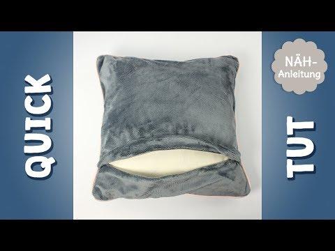 quick tut living kissenbezug mit verdecktem rei verschluss n hen youtube. Black Bedroom Furniture Sets. Home Design Ideas