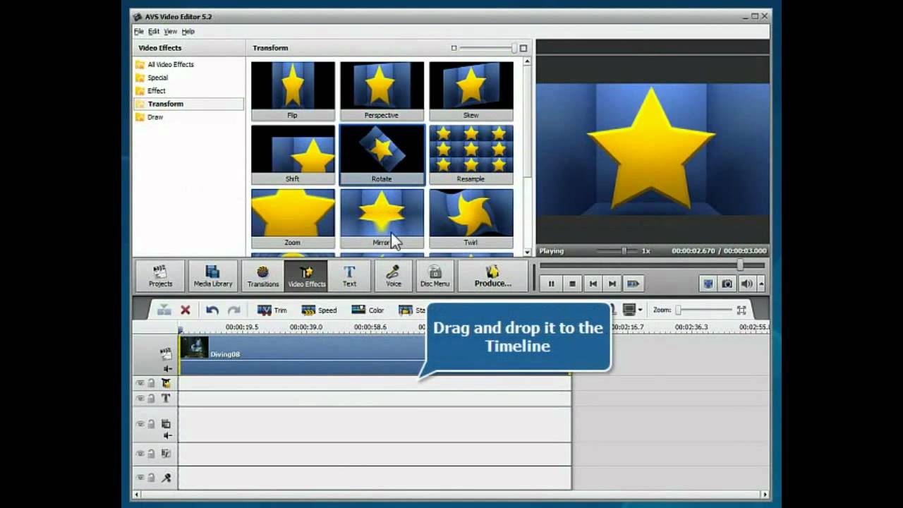 How to rotate video using avs video editor youtube ccuart Image collections