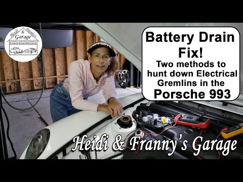 How To Fix an Electrical Drain on your Car Battery for Porsche 993.  (Two methods – DIY)