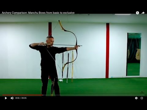 Archery Comparison: Manchu Bows from basic to exclusive
