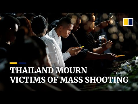 Thailand mourns victims of nation's worst mass shooting
