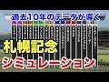 2018年  札幌記念  シミュレーション  【過去10年データ競馬予想】