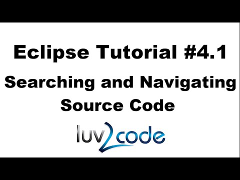 Java Eclipse Tutorial - Part 4.1: Searching and Navigating Source Code