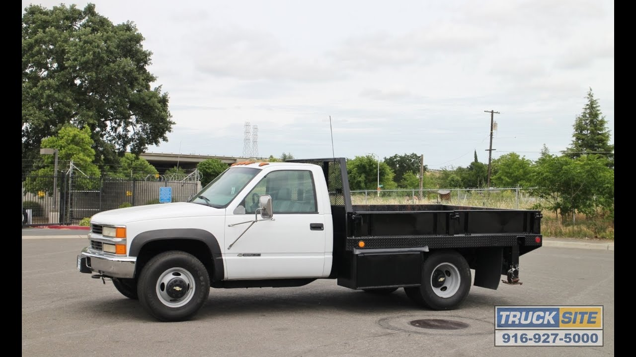 2000 chevrolet 3500 4x4 9 flatbed truck for sale by truck site youtube
