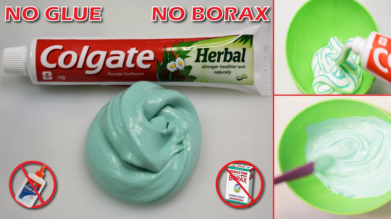 Testing No GLUE SLIME With Toothpaste & Sugar!! How to make Slime with Colgate Toothpase and Sugar !