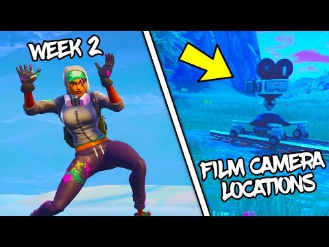 ALL FILM CAMERA LOCATIONS - HOW TO COMPLETE FORTNITE BR WEEK 2 CAMERA CHALLENGE
