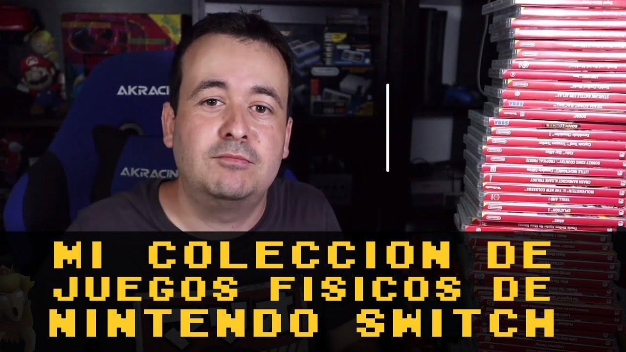 Mi pequeña colección de juegos físicos de Nintendo Switch