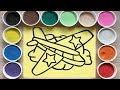 Đồ chơi trẻ em, TÔ MÀU TRANH CÁT MÁY BAY VIỆT NAM - Coloring viet nam airline (Chim Xinh)