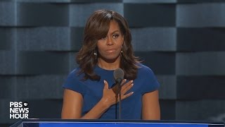 Watch first lady Michelle Obama's full speech at the 2016 Democratic National Convention Free HD Video