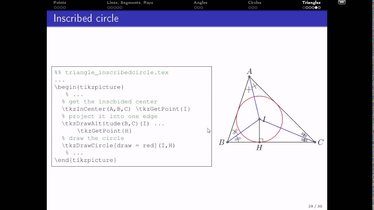Hướng dẫn LaTeX 4 5: Drawing - Triangles -- Vẽ hình - Tam giác