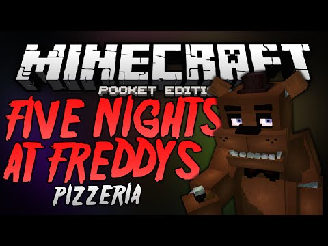 FREDDY FAZBEAR'S PIZZERIA!!! - Five Nights At Freddy's Map - Minecraft Pocket Edition