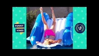 TRY NOT TO LAUGH - SUMMER POOL & WATER SLIDE Fails Compilation | Funny Vines Videos July 2018