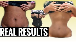 WEARING A WAIST TRAINER 24 HOUR CHALLENGE |BEFORE AND AFTER| RESULTS AT END