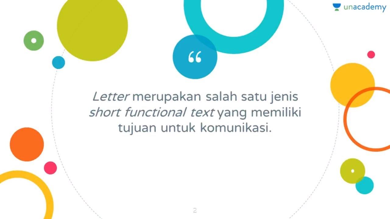 Short Functional Text Formal Letter Bahasa Inggris Kelas X Sma Sbmptn