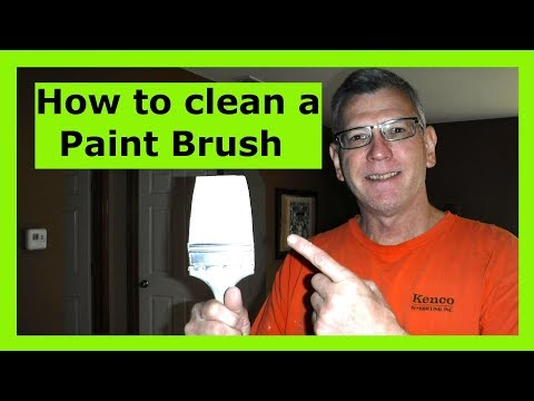 How to clean a Paint Brush.  35 year Pro shows you the right way