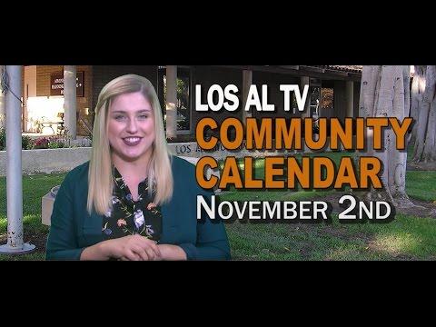 Community Calendar - November 2nd, 2016