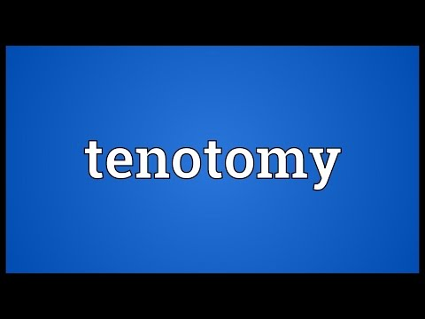 Header of tenotomy