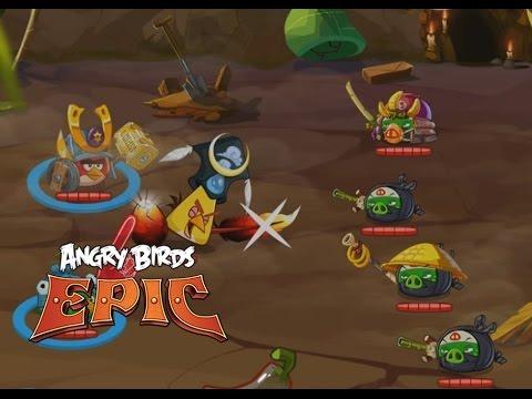 Энгри бёрдс эпик (Angry Birds Epic RPG) - Злые птички против Hиндзя Свиней!