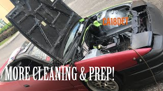 Engine Bay Clean up Con't + Tearing down my CA18DET