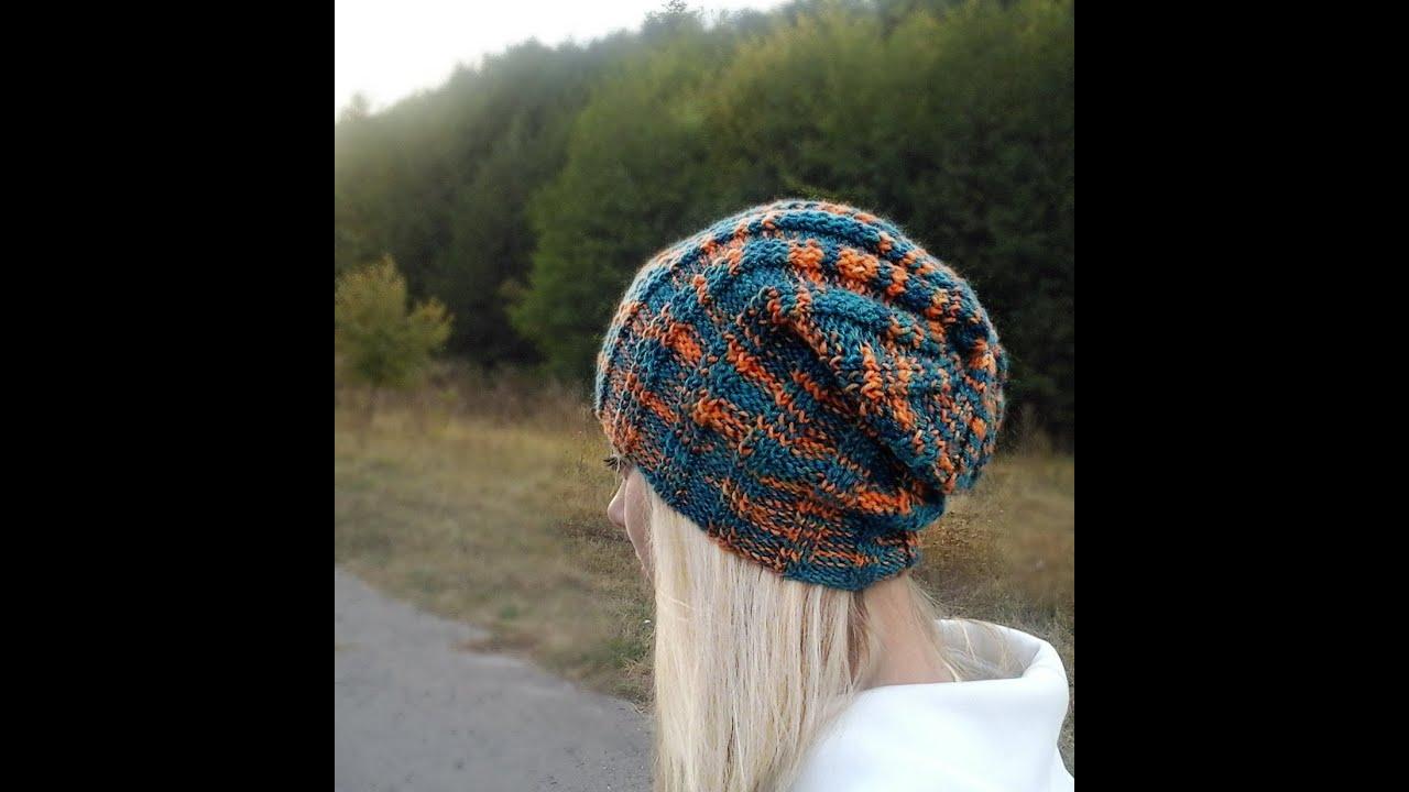 женская шапка колпак крючок схема
