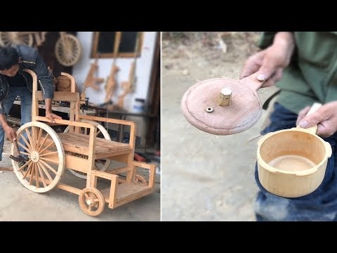 12 Creative craft-maker use bamboo & wood to make beautiful useful item
