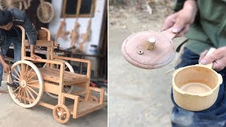 12 Creative craft-maker use bamboo & wood to make beautiful useful item