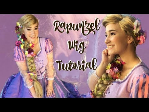 Rapunzel WIG TUTORIAL!!! + DIY Flower Clips