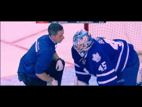 HD Playoffs JONATHAN BERNIER INJURED AGAINST BRUINS