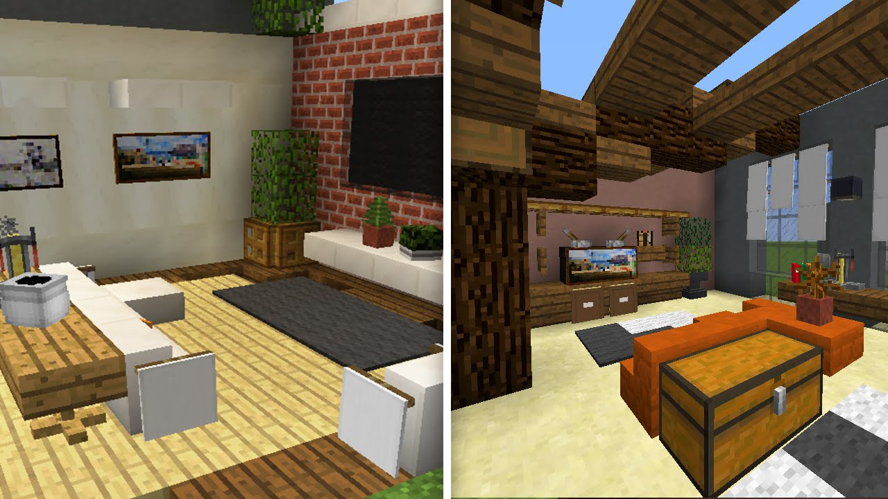 5 designs de salas de estar no minecraft youtube for Sala de estar 16m2