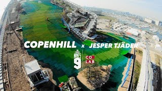 Jesper Tjäder skis down CopenHill Waste-to-Energy Plant
