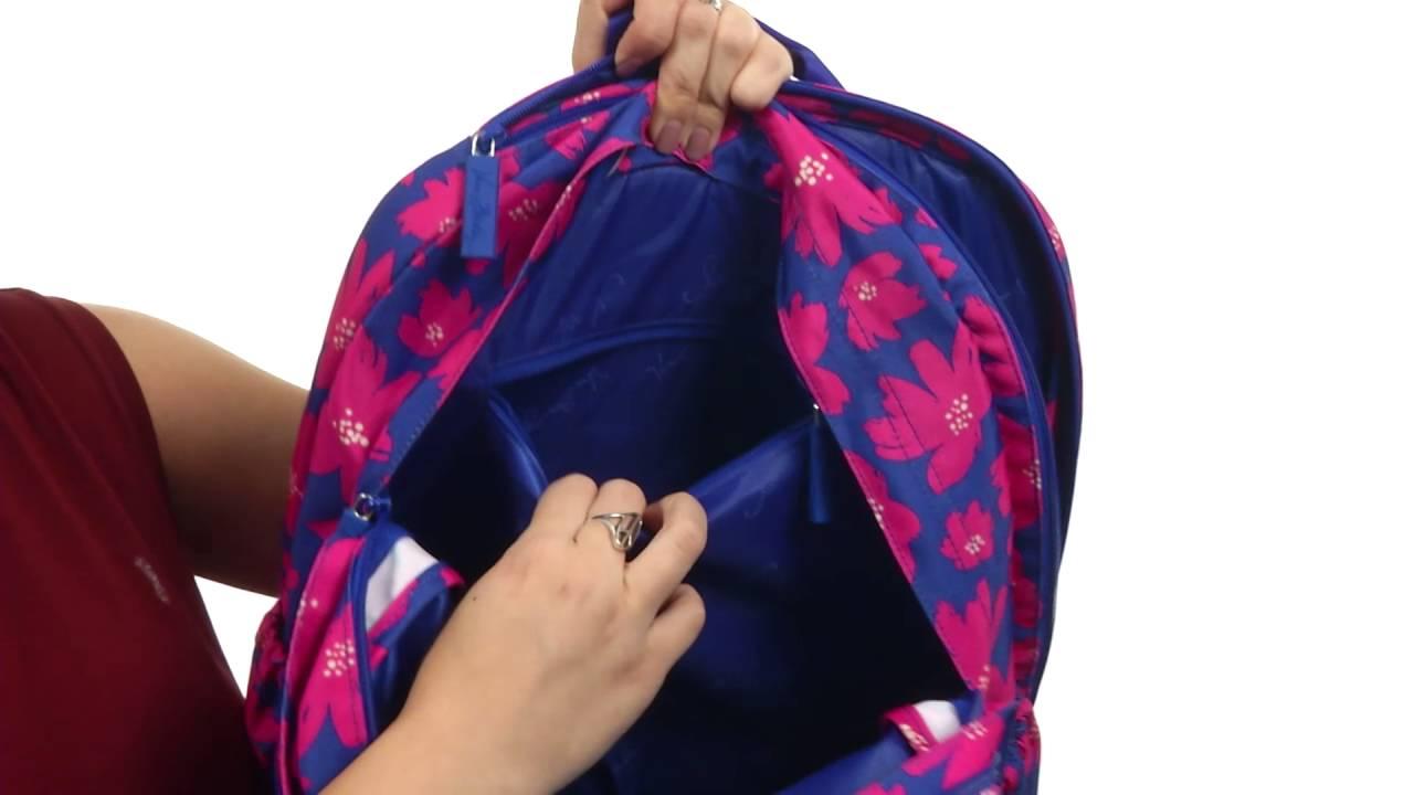 Vera Bradley Lighten Up Grande Laptop Backpack SKU 8774032 - YouTube 6184e04b0a13c