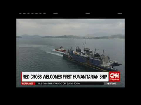 The Philippine Red Cross welcomes the country's first humanitarian ship