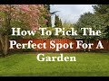 How To Pick The Perfect Spot For A Garden In Your Backyard - 3 Tips