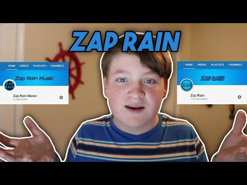 My New Music Channel And Name! (Zap Rain Music)