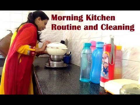 Indian Morning kitchen Cleaning Routine / Daily Indian kitchen Cleaning / morning kitchen routine