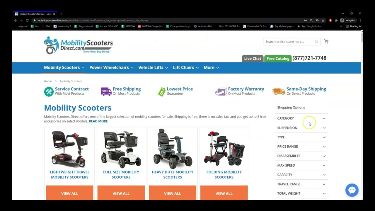 Mobility Scooters Direct Website Tutorial
