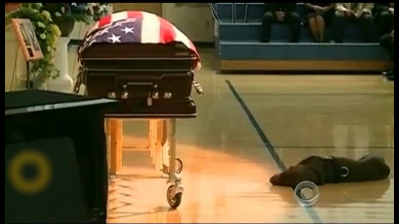 Dog Cries At Soldier S Funeral